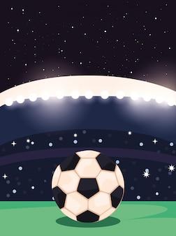 Un clásico balón de fútbol blanco y negro