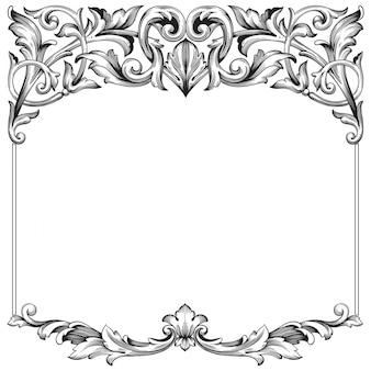 Clásico barroco de elemento vintage. elemento de diseño decorativo de caligrafía de filigrana.
