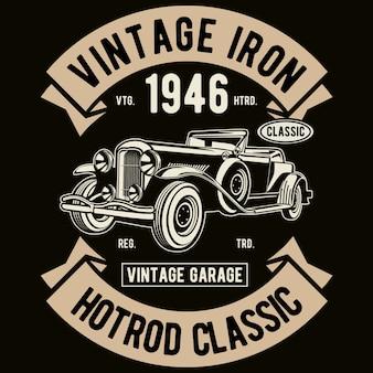 Clásico de hierro vintage