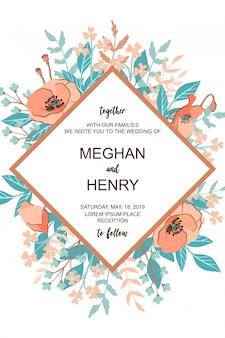 Clásico y la tarjeta de invitación de boda refind