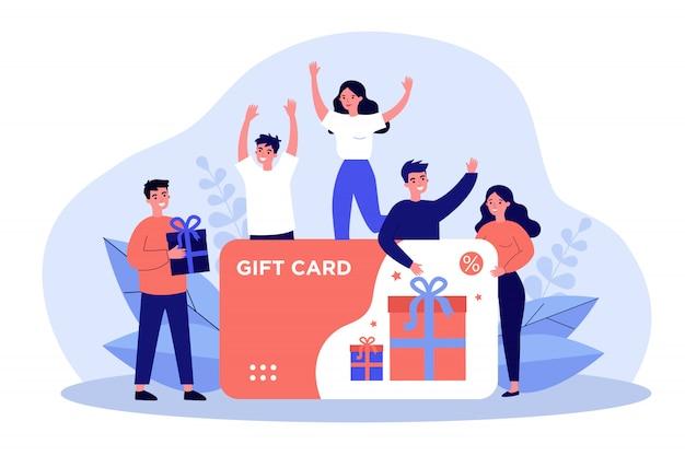 Clientes que reciben una tarjeta de regalo