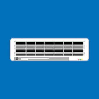 Climatizador split climatizador blanco. aparato aislado sistema de ventilación equipo
