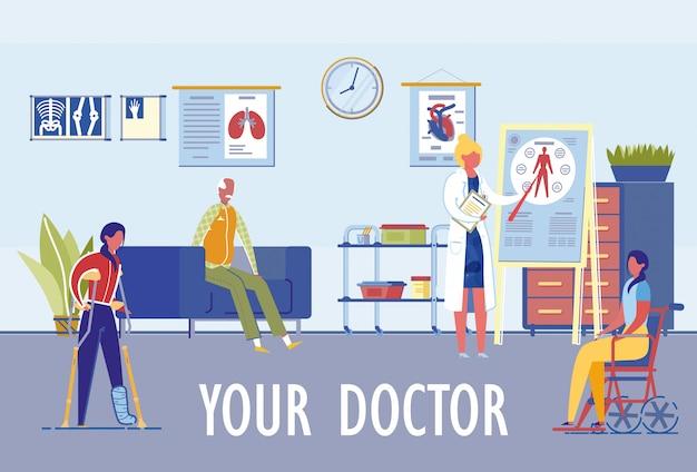 Clínica de medicina familiar diversas especializaciones.