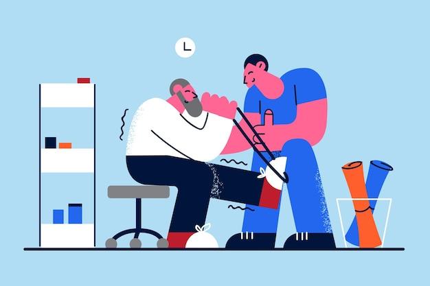 Clínica de rehabilitación y concepto de salud.