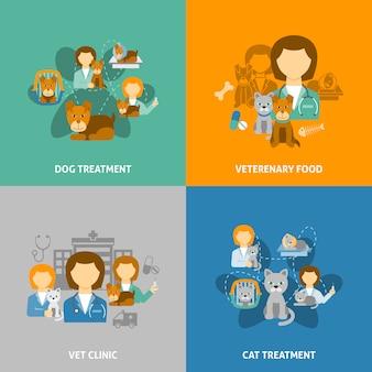 Clinica veterinaria de ilustraciones.