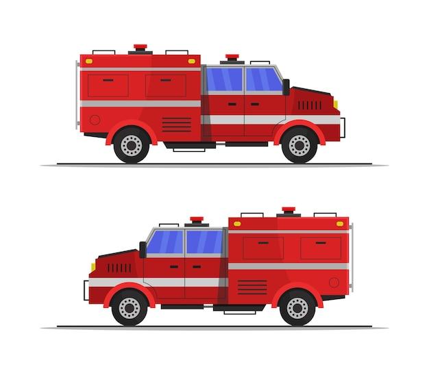 Clipart de camión de bomberos aislado