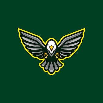 Clipart de mascota águila aislado