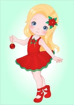 Clipart de navidad de niña