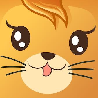 Close up cara de gato.