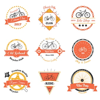 Club de bicicletas oldschool emblems