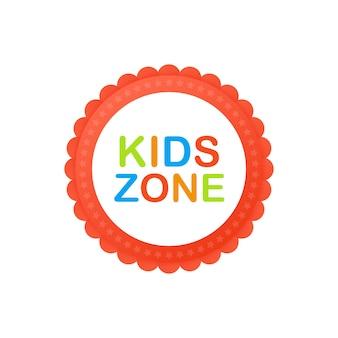 Club de niños. banner de zona para niños. lugar para divertirse y jugar.