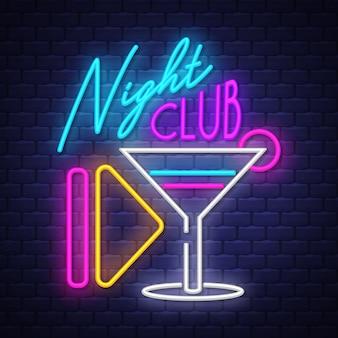 Club nocturno neón señal
