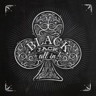 Clubes black jack chalk