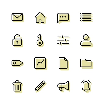 Cms cmr erp icons color background