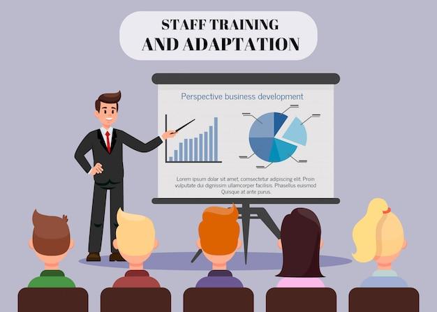 Coach de negocios exitoso color vector banner