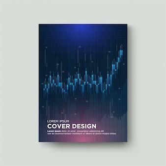 La cobertura comercial digital con la ilustración de los gráficos comerciales del mercado de valores está aumentando hacia arriba.