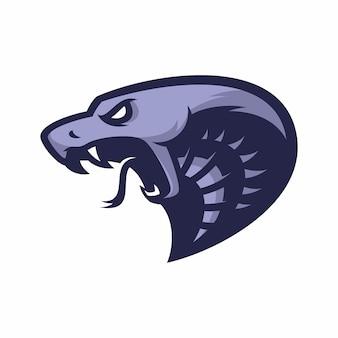 Cobra - vector logo / icono ilustración mascota