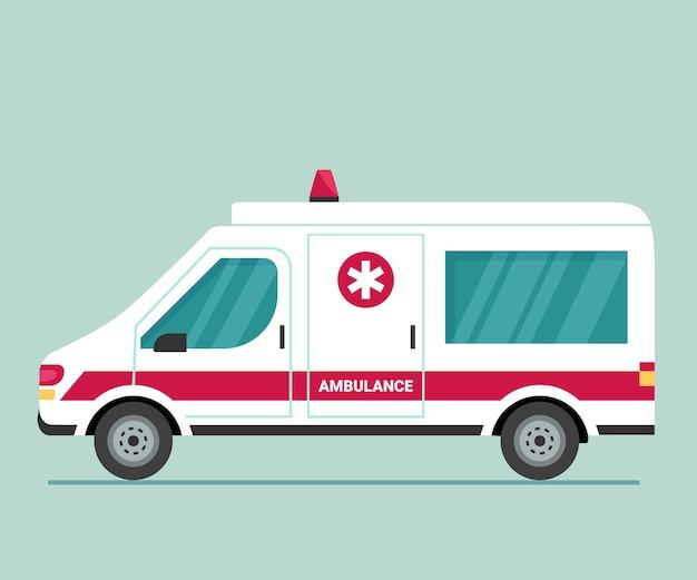 Coche de ambulancia. transporte de primeros auxilios