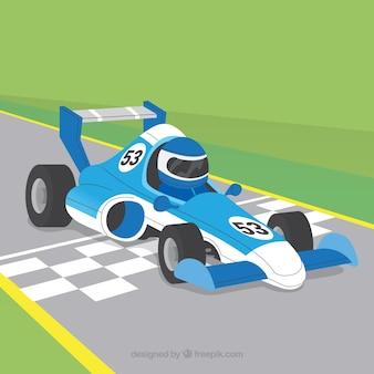 Coche de carreras de fórmula 1 diseño plano