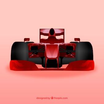 Coche de carreras de fórmula 1 con diseño realista