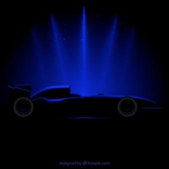 Coche de carreras de fórmula 1 moderno con estilo realista