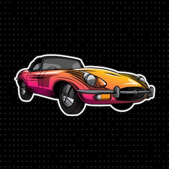 Coche convertible colorido