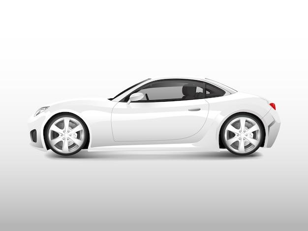 Coche deportivo blanco aislado en vector blanco
