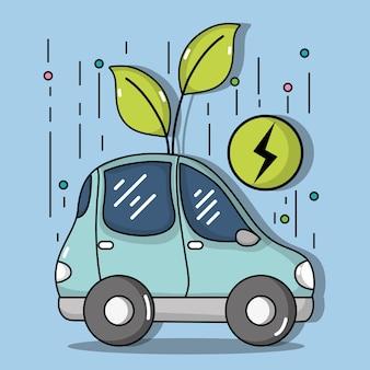 Coche eléctrico de energía para la atención de la ecología