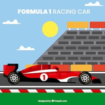 Coche flat de formula 1