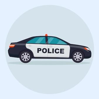 Coche de policía. patrulla, vehículo policial