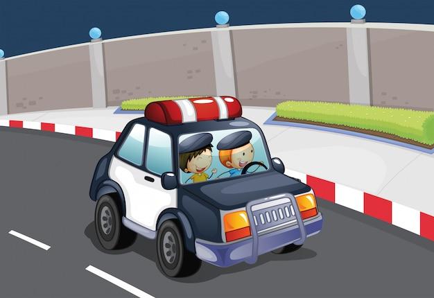 Un coche policial