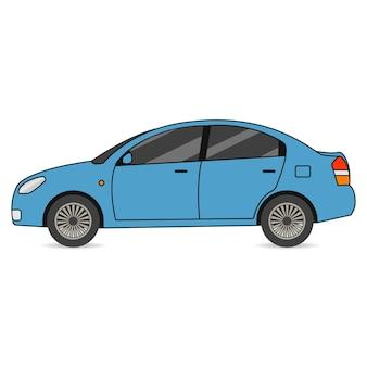 Coche. transporte de automóviles en estilo plano. ilustración vectorial.
