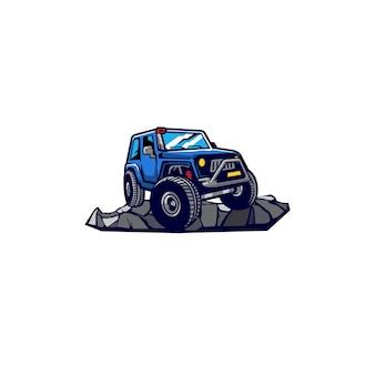 Coches todoterreno rueda de tierra auto rock