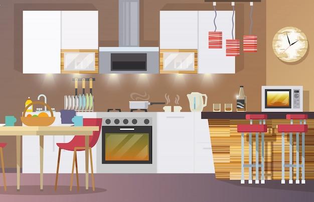 Cocina interior plana