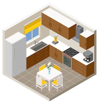 Cocina isometrica