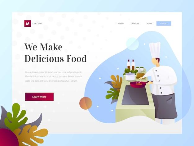 Cocina de restaurante y chef.