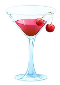 Cóctel de cereza y alcohol