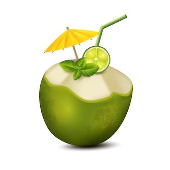 Cóctel en coco
