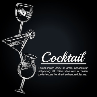 Cóctel tropical cartel bar icono