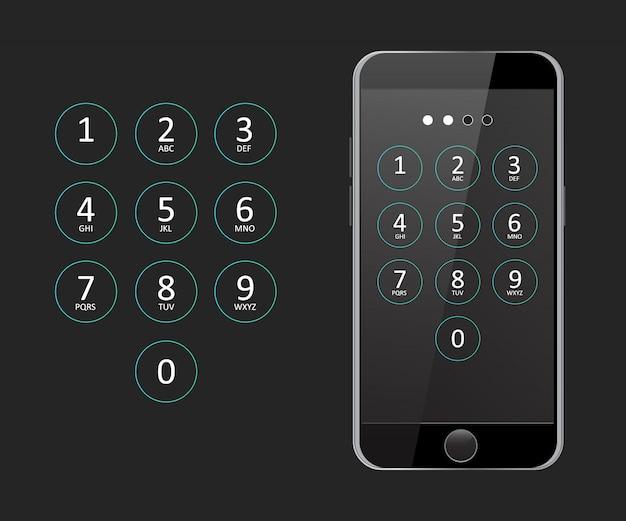 Código de acceso para el vector de teléfono