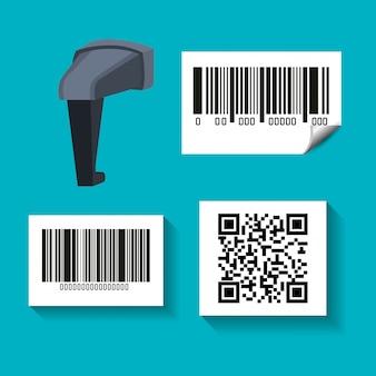 Código de barras del sistema id producto