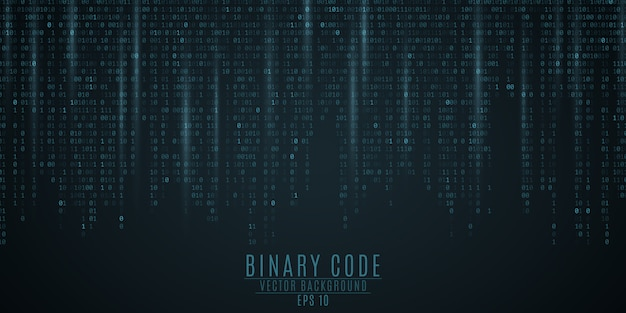 Código binario de fondo.
