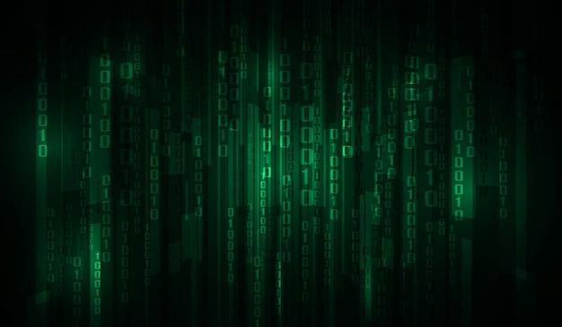El código binario de matrix