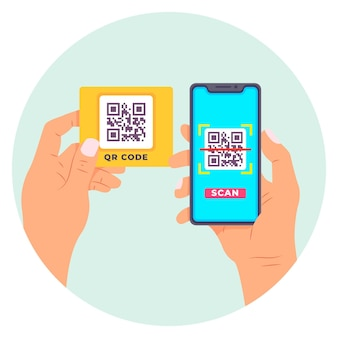 Código qr de escaneo de teléfonos inteligentes