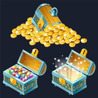 Cofres isométricos con tesoros