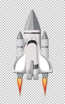 Cohete aislado en transparente