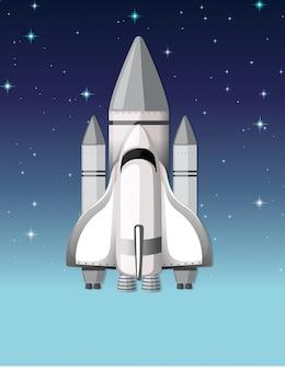 Un cohete en el cielo