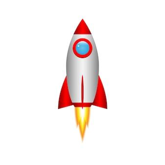 Cohete de dibujos animados 3d