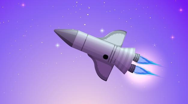 Cohete en escena espacial o fondo