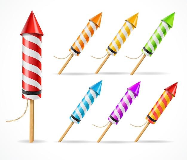 Cohete de fuegos artificiales estableció un símbolo de celebración.